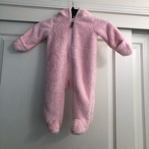 Carters Sherpa Hooded Bunting - 9 months pink